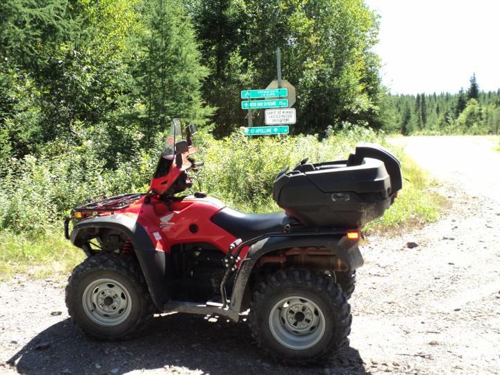 Essai du quad TRX 500PG Canadian Trail Édition Rubicon de Honda 2013