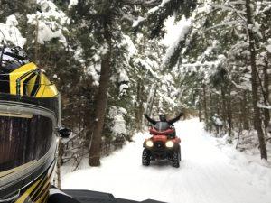 Saison hivernale de quad
