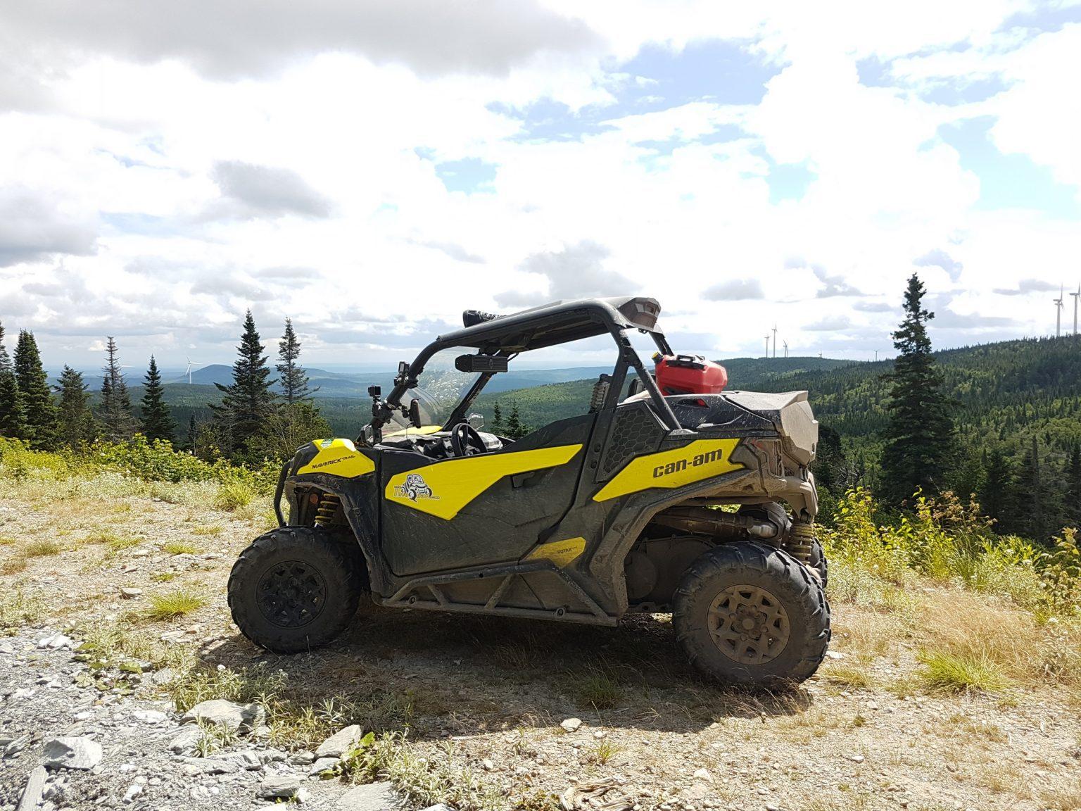 Randonnée de quad en solo dans Chaudière-Appalaches