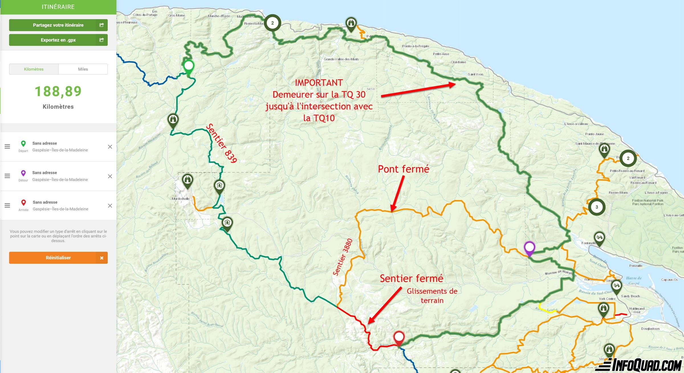 Tour de la Gaspésie en quad