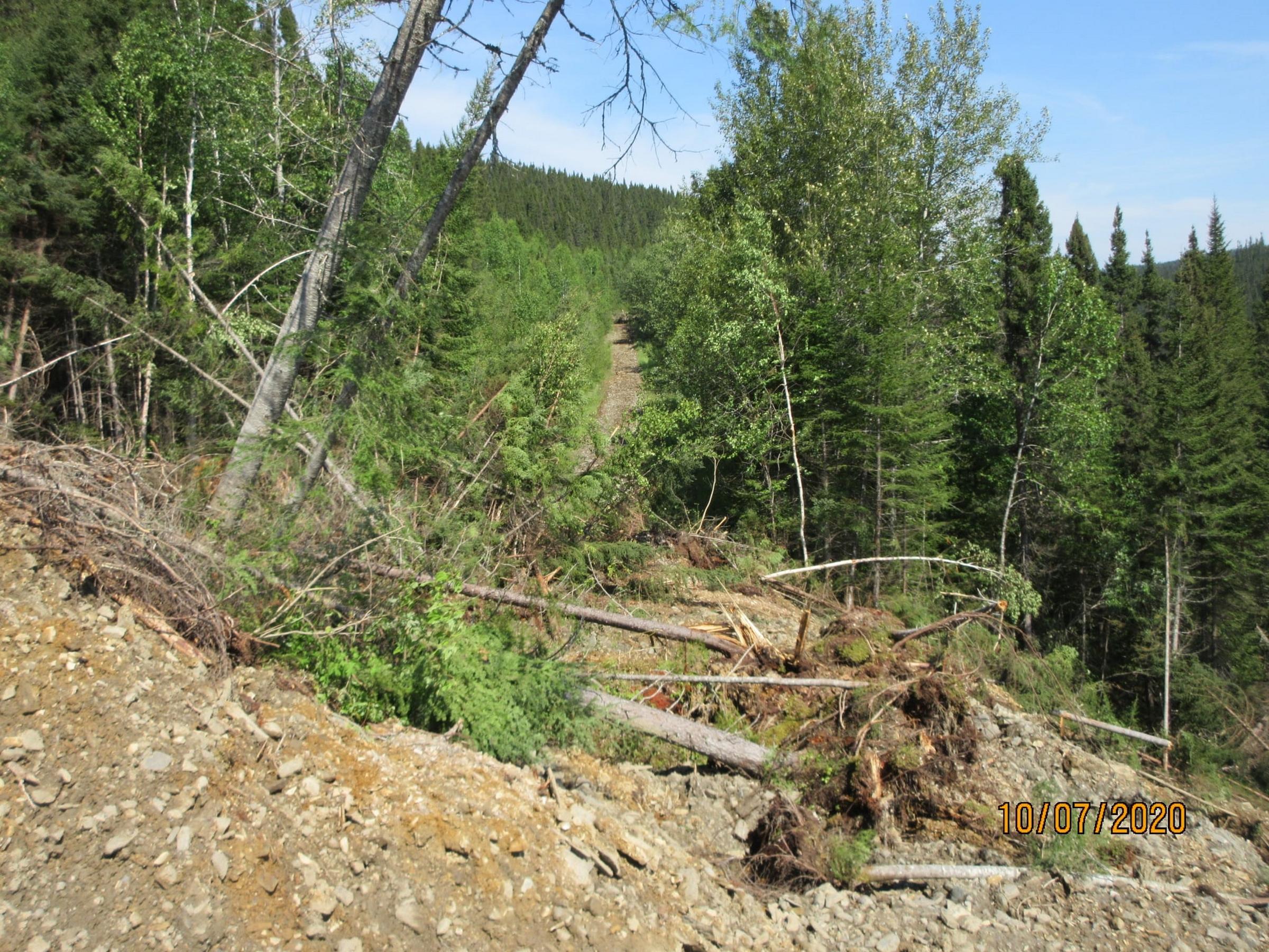 Glissement de terrain en Gaspésie