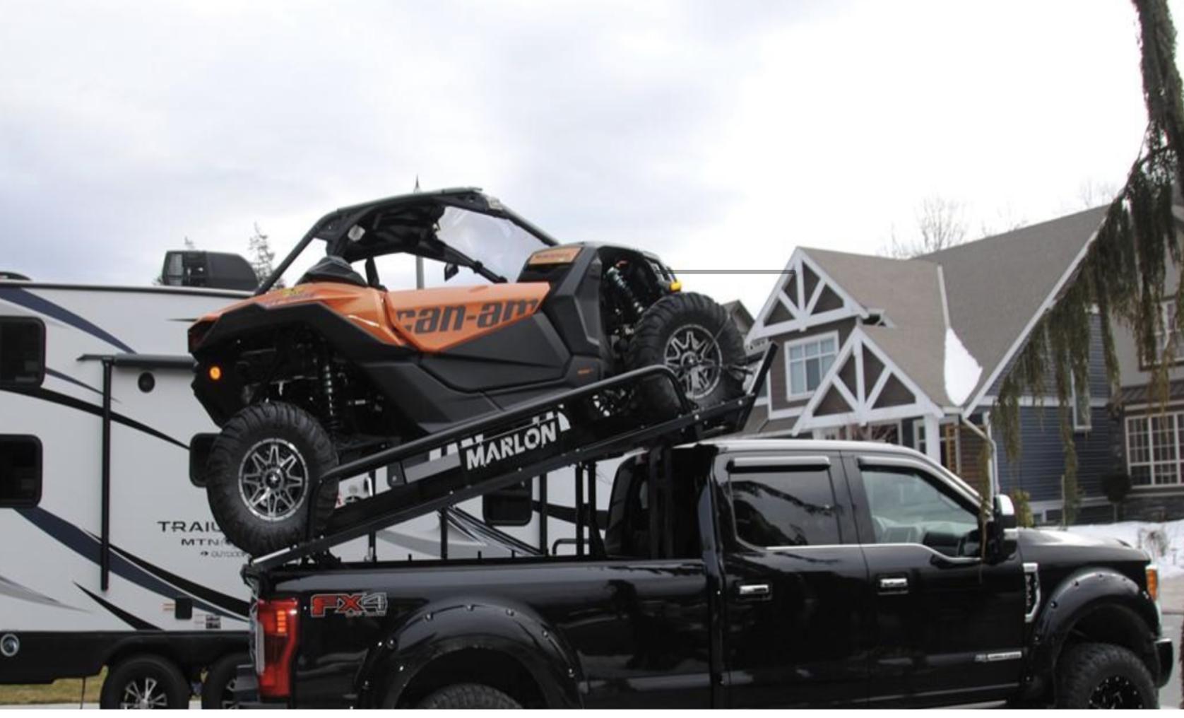 To transport your vehicules: Marlon – Xplore II SxS Truck Deck